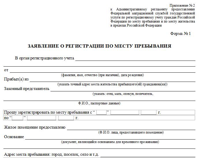 Как выписать человека по временной регистрации бланк для регистрации гражданина рф скачать